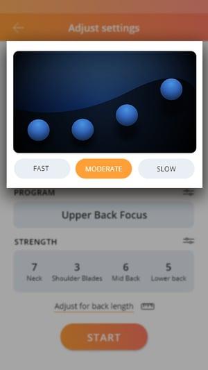 Adjust settings_Speed