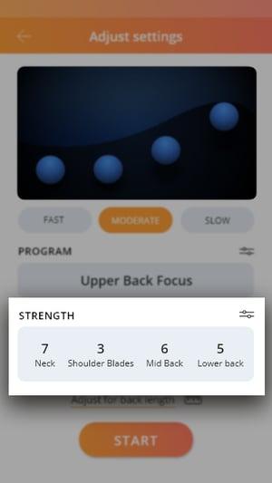 Adjust settings_Strength